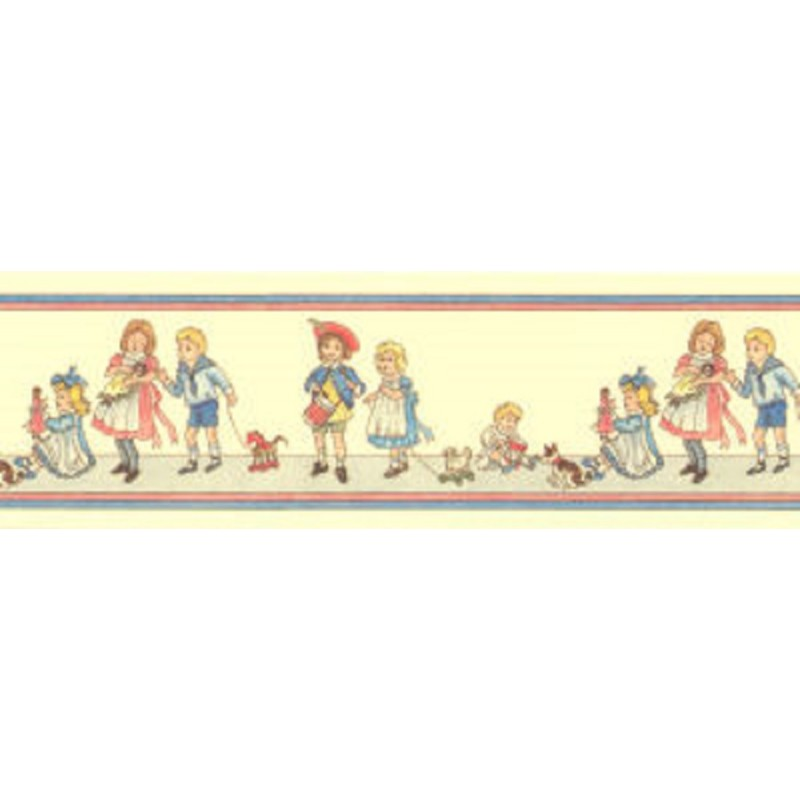 Dolls House Childrens Nursery Rhyme Wallpaper Border Miniature Print