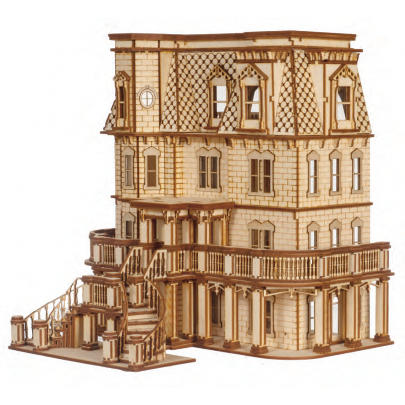 Dolls House Hegeler Carus Mansion 1:24 Scale Lazer Cut Flat Pack Kit