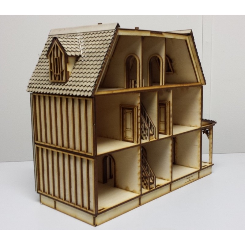 Kristiana Tudor Dolls House 1:48 Scale Lazer Cut Flat Pack Kit