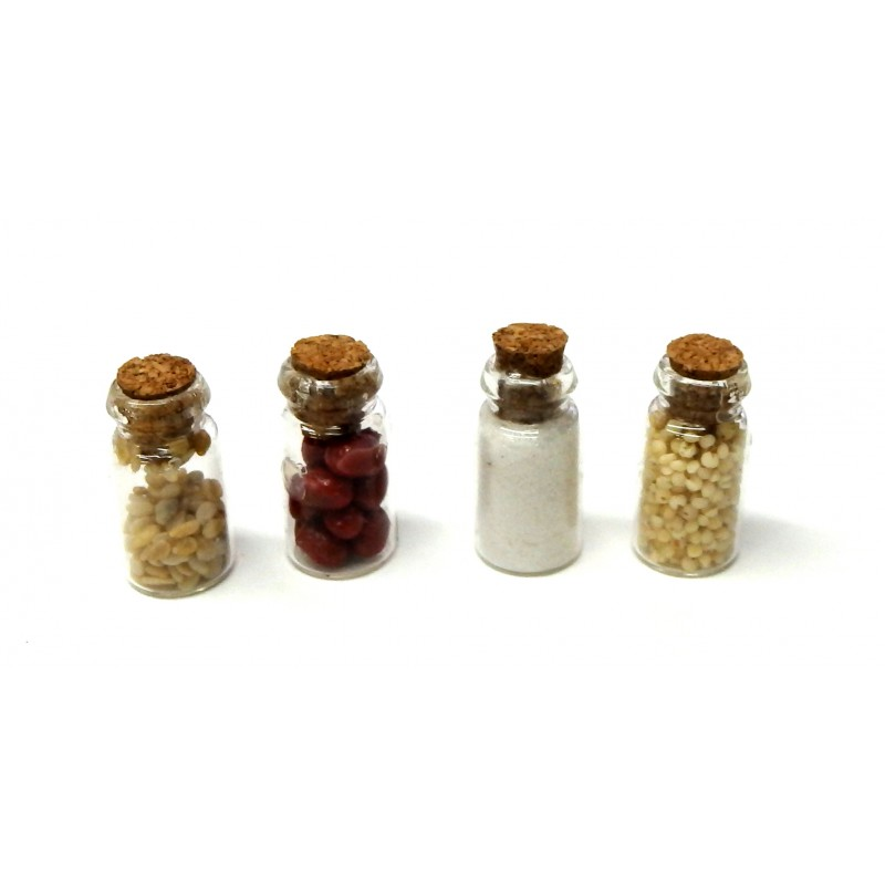 Dolls House Full Kitchen Storage Jars Set B Miniature Accessory