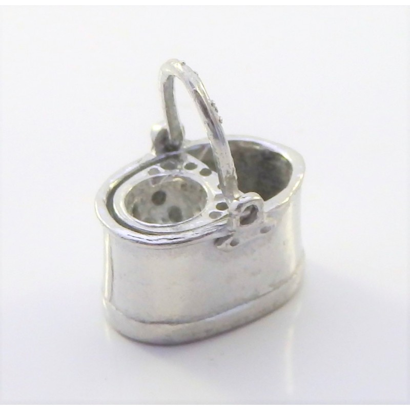 Dolls House Pewter Mop Bucket 1:24 Scale Miniature Kitchen Accessory