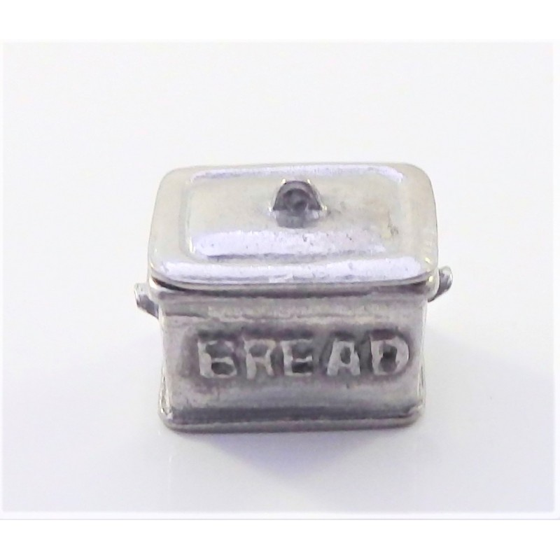 Dolls House Pewter Bread Bin 1:24 Scale Miniature Kitchen Accessory