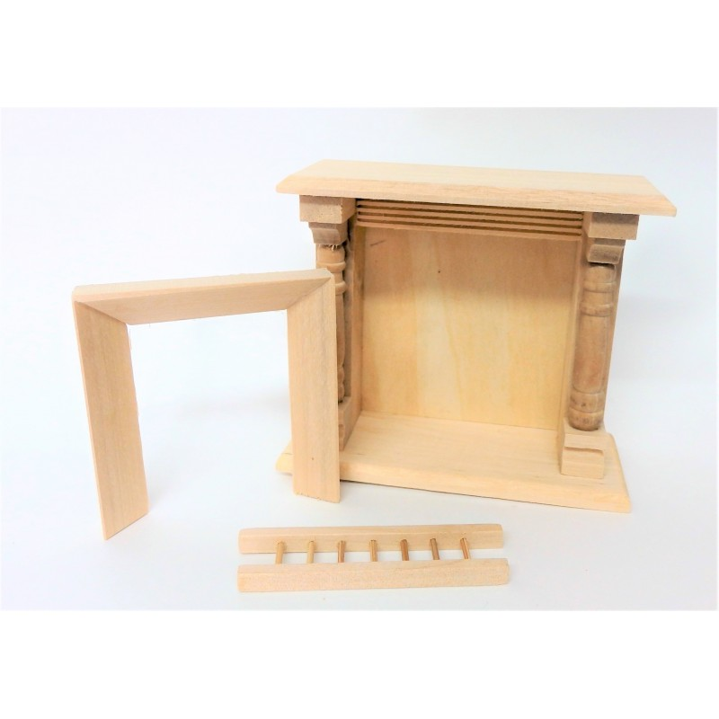 Dolls House Unfinished Fireplace Miniature 1:12 Scale Furniture