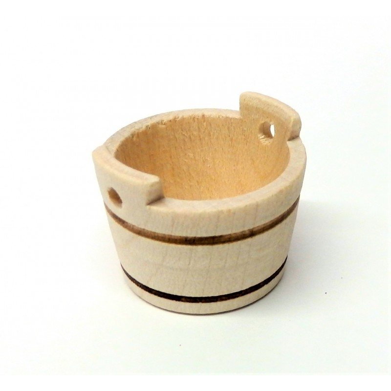 Dolls House Round Wash Tub Plant Barrel Miniature 1:12 Accessory