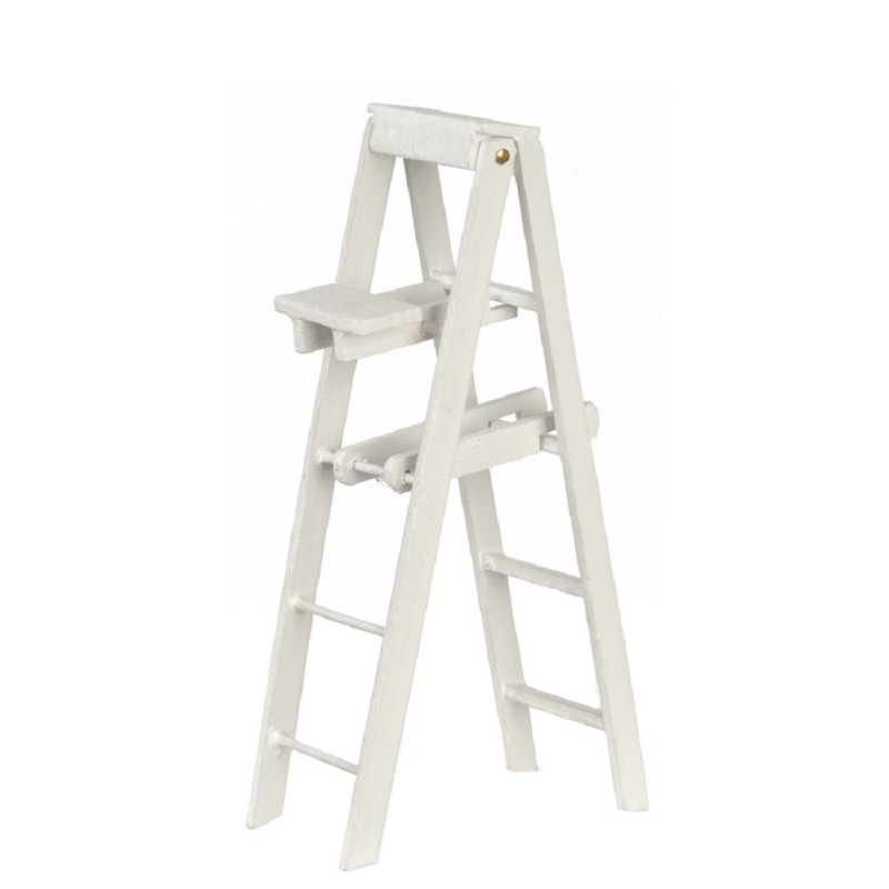 Dolls House White Step Ladders Large Miniature Decorators Accessory