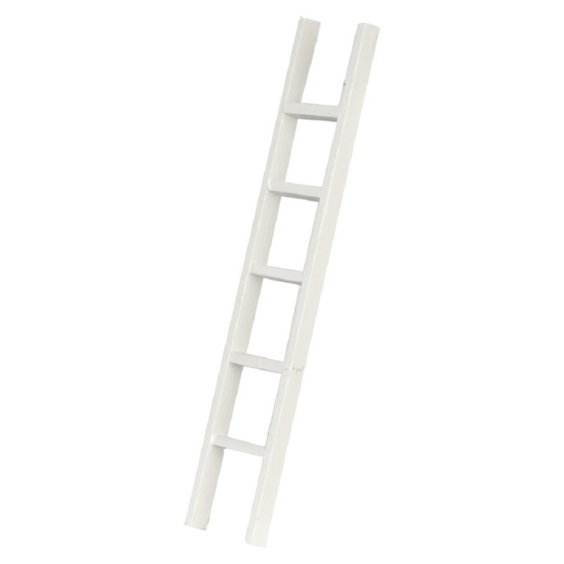 Dolls House White Straight Step Ladder 6 inch Miniature Accessory