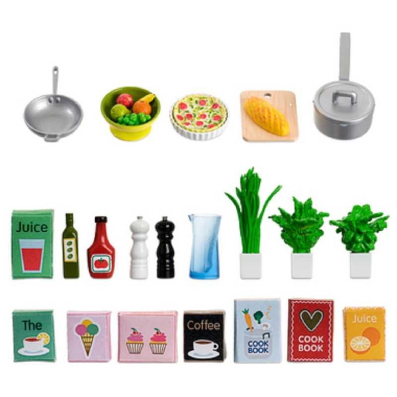 Dolls House Lundby Kitchen Accessory Set Food Plants Cookware
