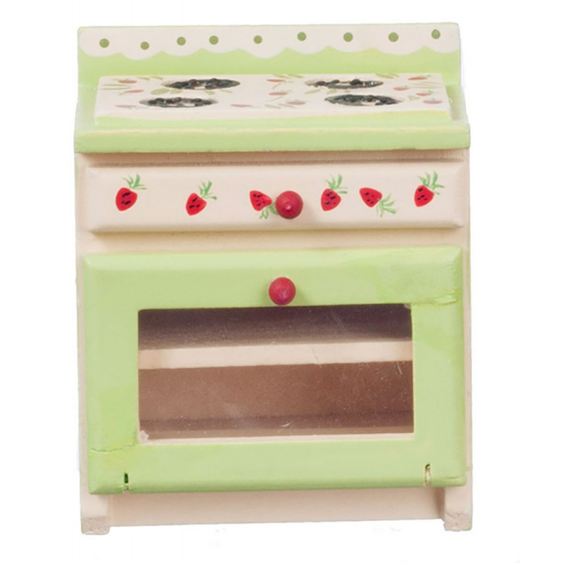 Dolls House Strawberry Stove Cooker Kitchen Furniture Miniature 1:12