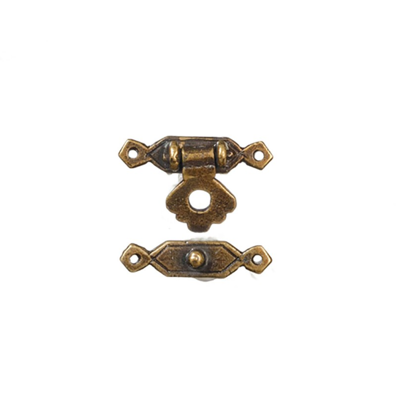 Dolls House Miniatures UK 24th Scale Door Knob /& Plate With Keys 6 Pack Bronze