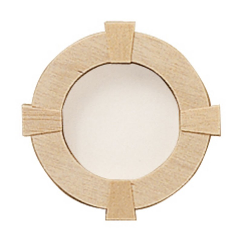Dolls House Round Window Frame 1:12 Scale Wooden Miniature