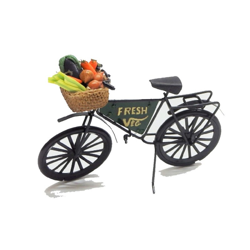 Dolls House Green Grocers Shop Fresh Vegetables Bike Bicycle