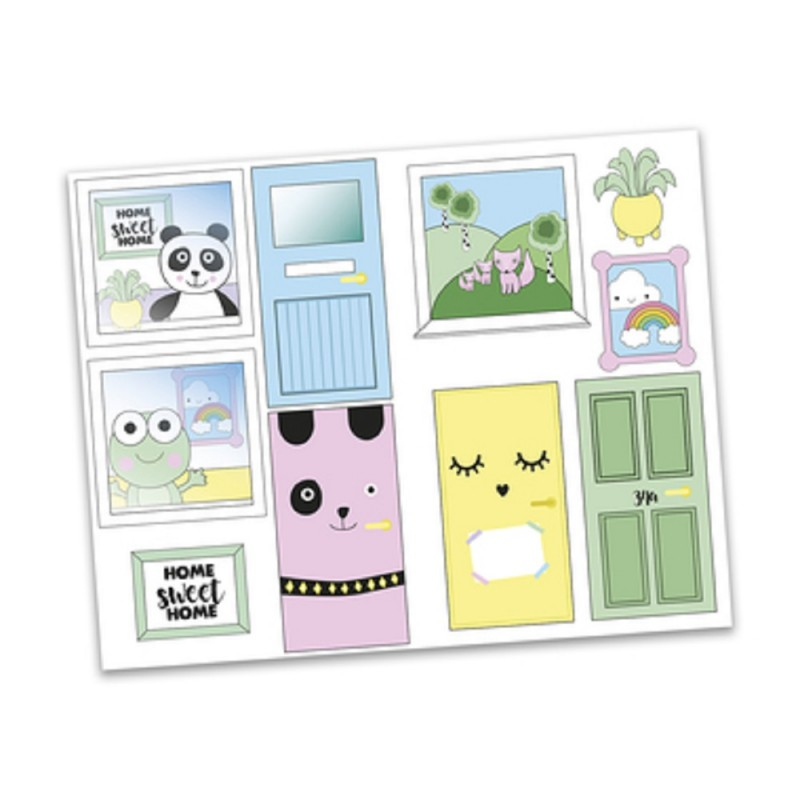 Dolls House Lundby Sticker Sheet Type 2 for Creative Doll's House