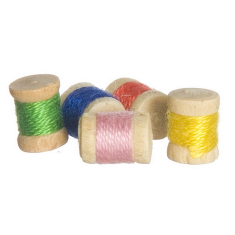 New Dolls House Sewing Room Accessory Cotton Reels 443