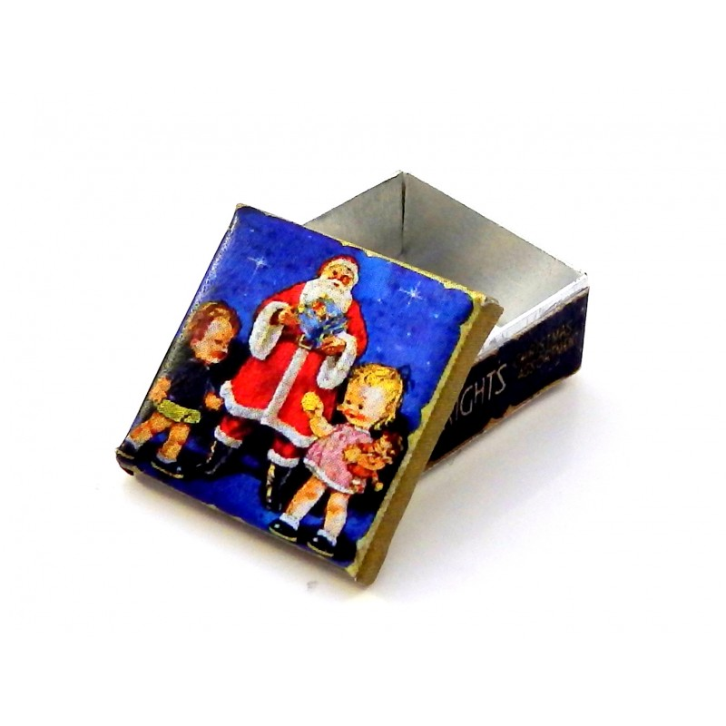 Dolls House Wrights Christmas Biscuit Tin Santa Miniature Accessory