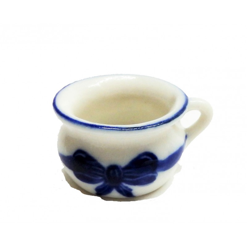 Dolls House Chamber Pot Blue Ribbon Victorian Bedroom Accessory