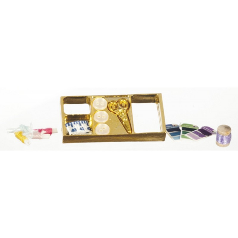 Dolls House Display Box of Sewing Accessories Miniature 1:12 Scale