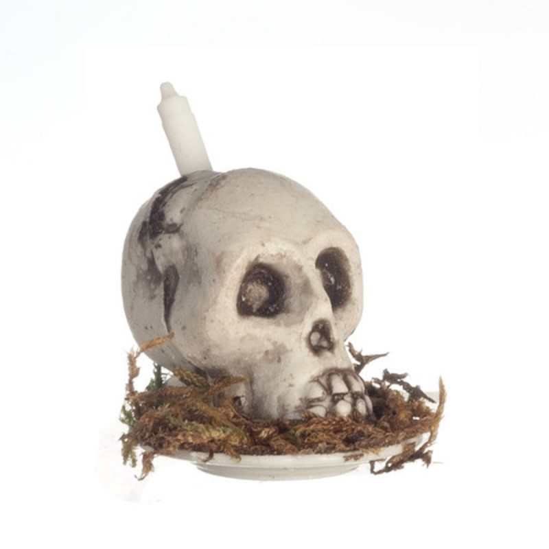 Dolls House Skull Candle Miniature Macabre Halloween Accessory