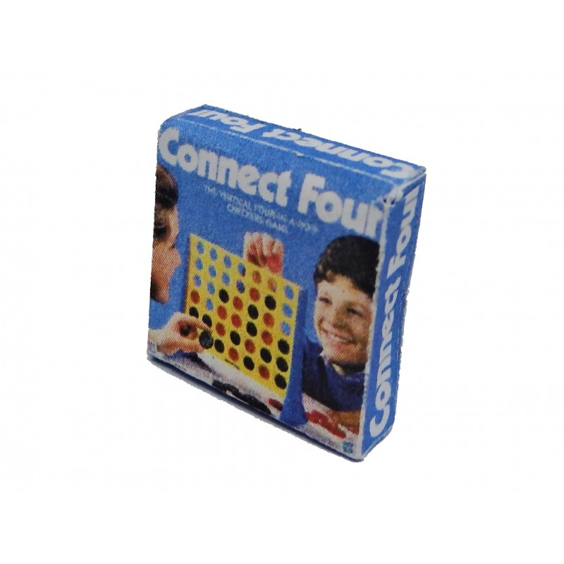 Dolls House Connect 4 Box Miniature Christmas Toy Shop Accessory