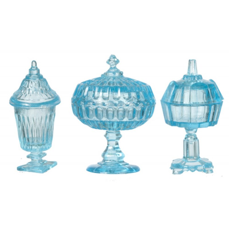 Dolls House Blue Candy Dishes Chrysnbon Miniature Ornaments