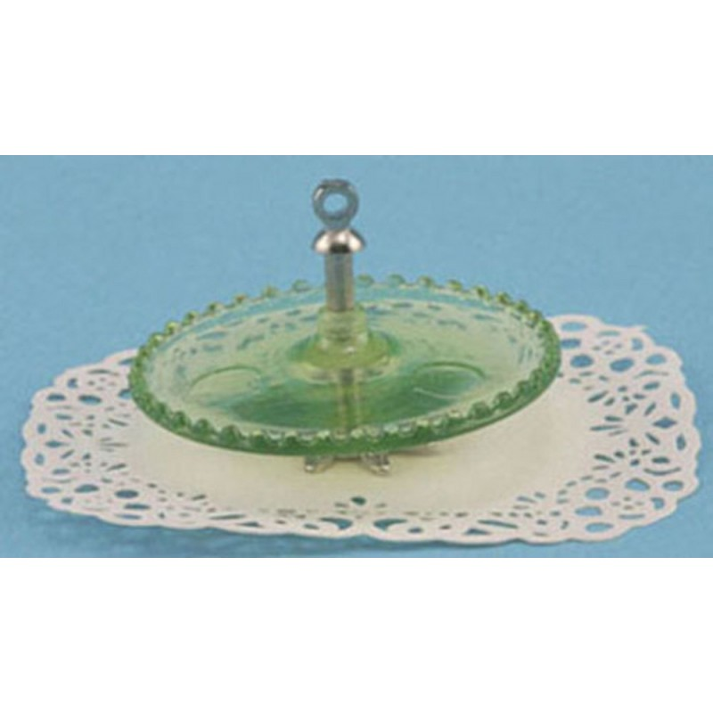 Dolls House Green Tidbit Server Chrysnbon Miniature Dining Accessory