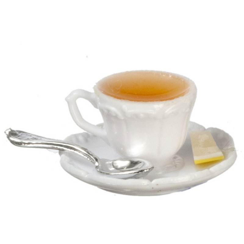 Dolls House Cup of Tea with Lemon Chrysnbon Dining Accessory 1:12