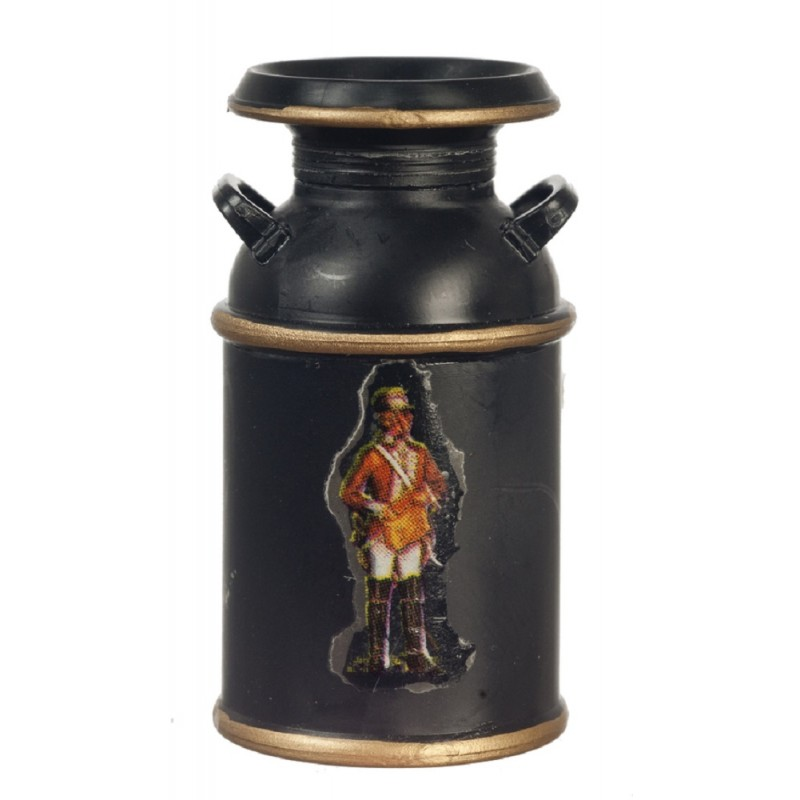 Dolls House Milk Churn Black Miniature Farm Shop Store Accessory