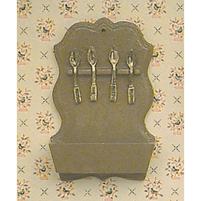 Dolls House Chrysnbon Spoon Rack Kit Miniature Kitchen Accessory