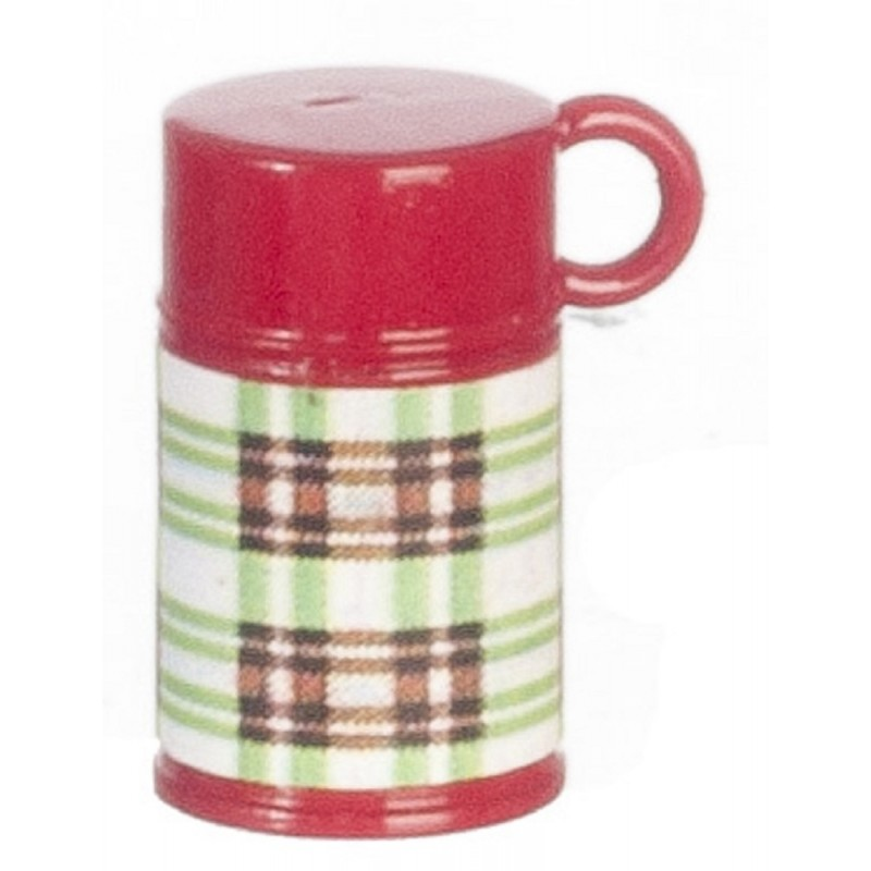 Dolls House Red Green Thermos Flask Work School Lunch Accessory