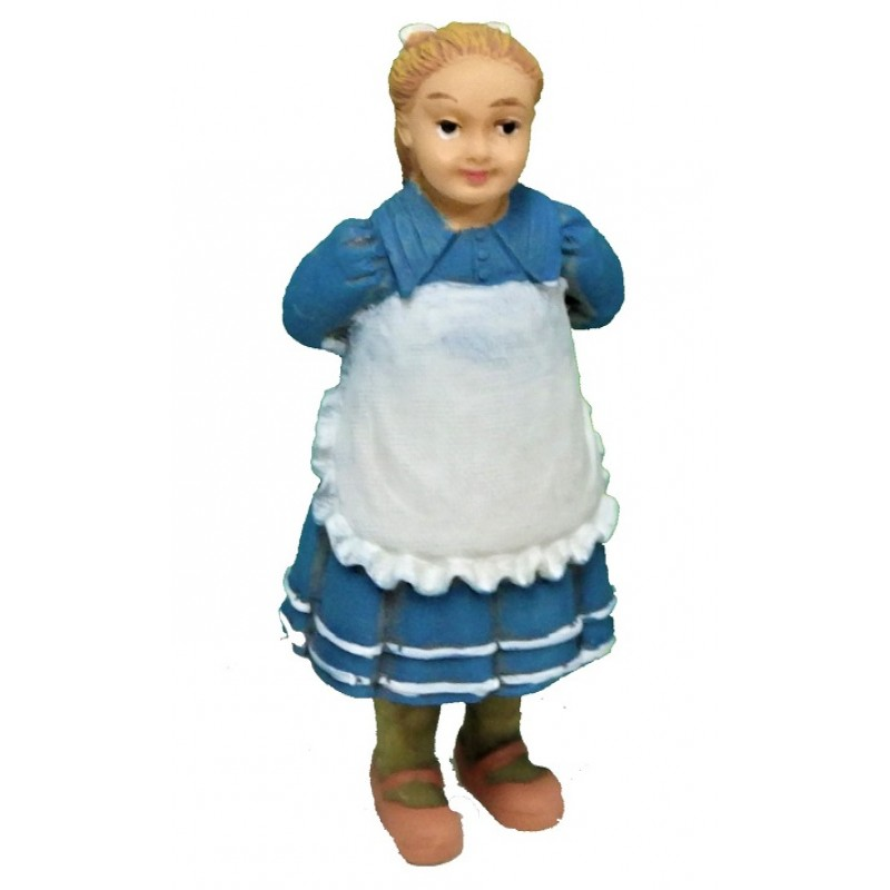 Dolls House Girl Holding Doll Behind Her Back People Resin Figure