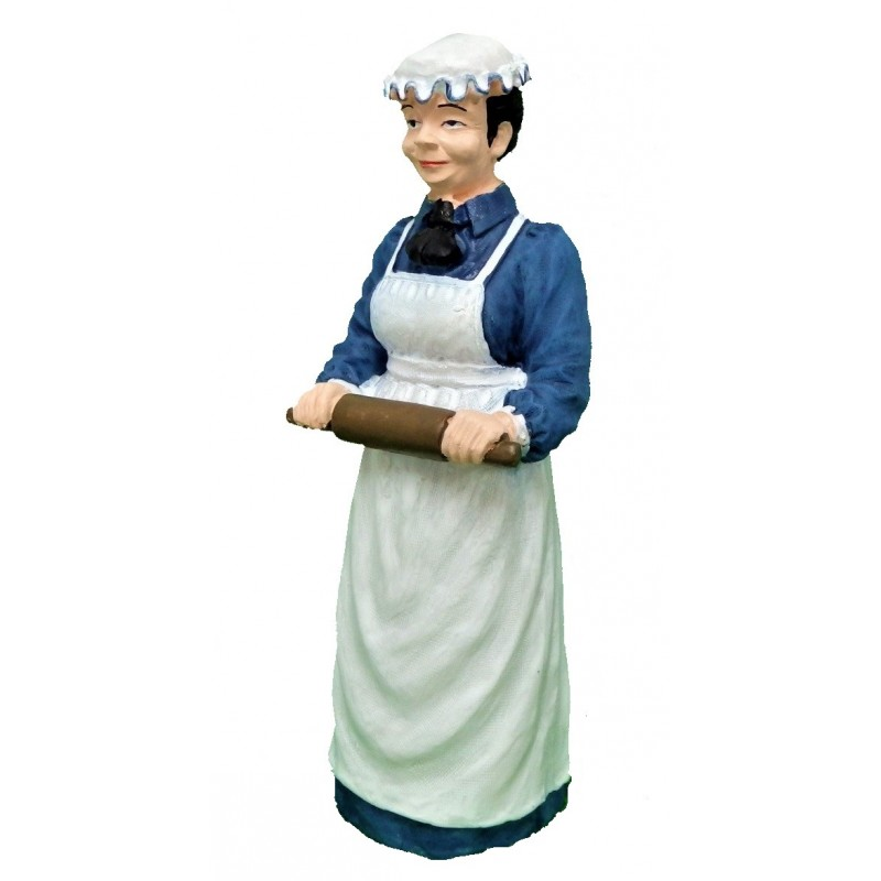 Dolls House People Victorian Cook with Rolling Pin Resin Figure 1:12
