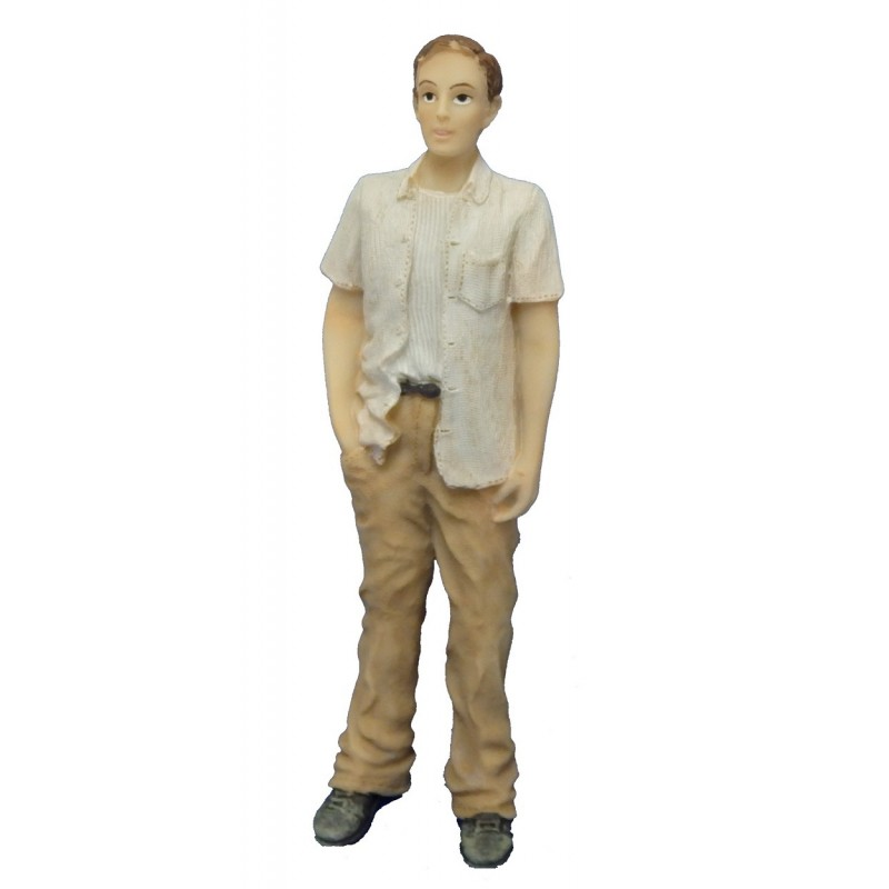 Dolls House People Modern Man with Open Shirt 1:12 Resin Figure