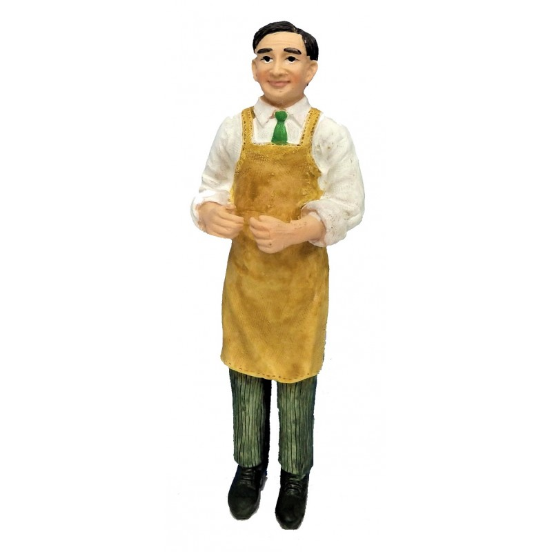 Dolls House People Working Man in Apron Miniature Resin 1:12 Figure
