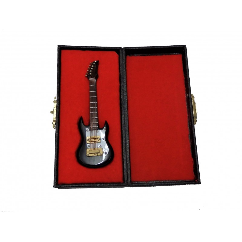 Dolls House Ibanez Guitar Miniature Music Room Instrument 1:12 Black