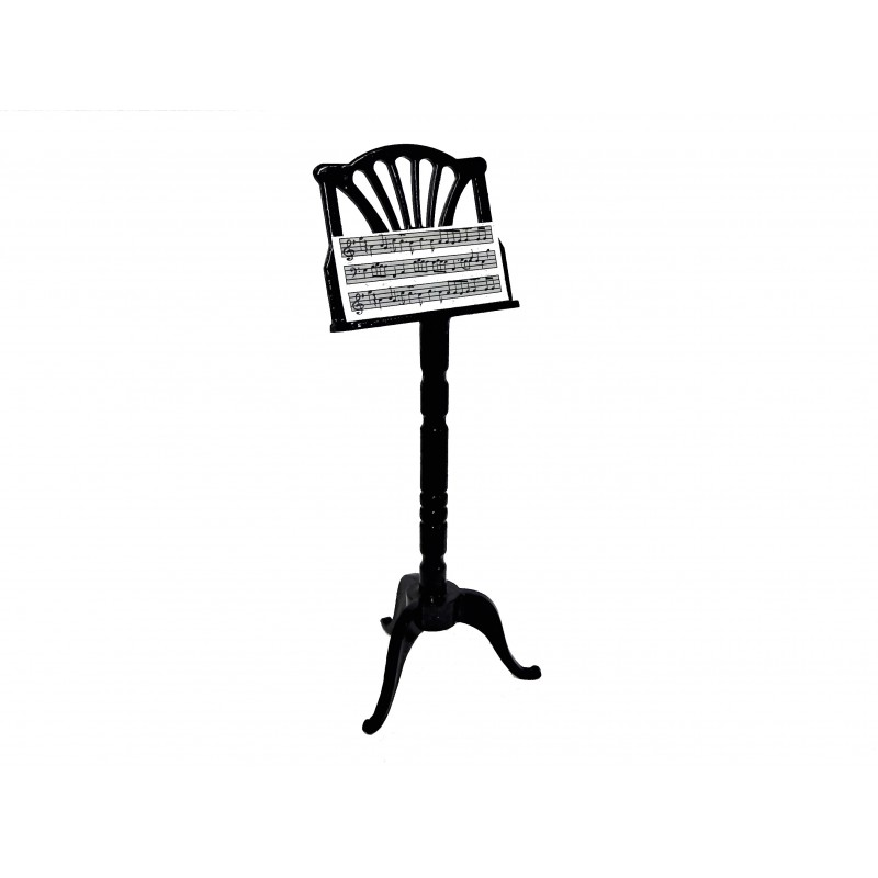 Dolls House Black Music Stand Miniature 1:12 Scale Accessory
