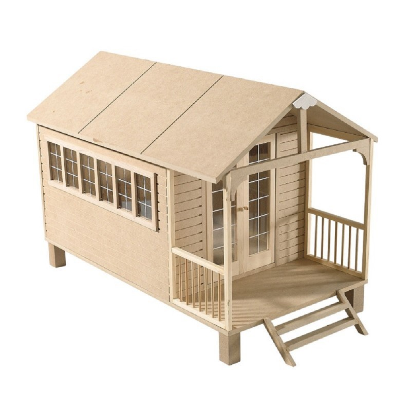 Dolls Summer House Chalet Flat Pack MDF For 1:12 Scale Miniatures