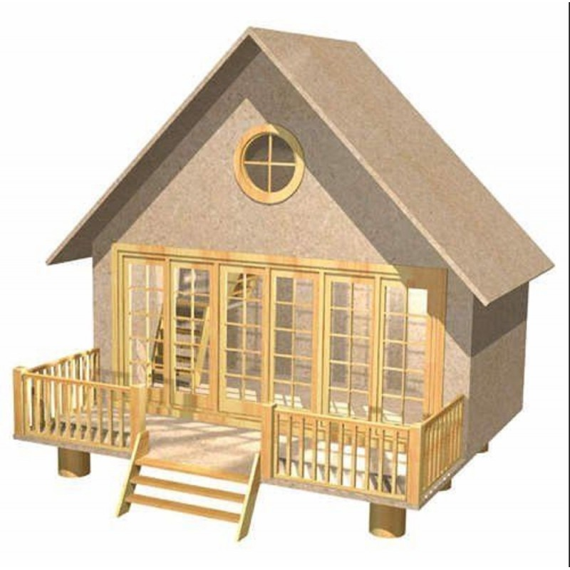 Dolls House Holiday Home Chalet Flat Pack MDF Kit 1:12 Scale