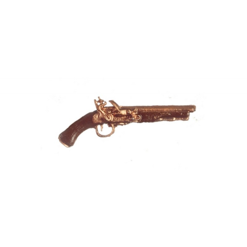Dolls House Flintlock Pistol Miniature 1:12 Ornament Accessory