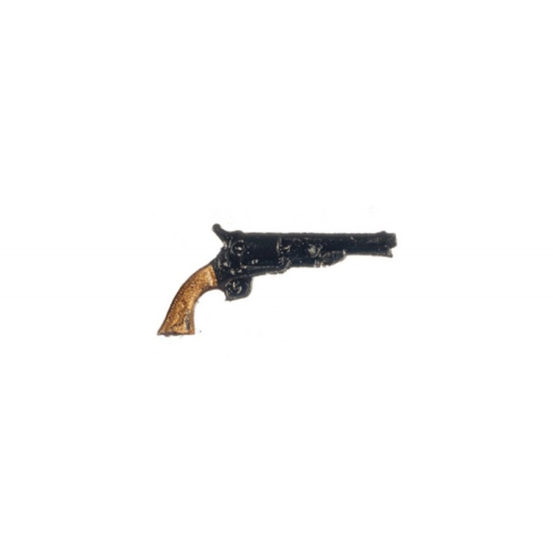 Dolls House Navy Colt Pistol 1860 Miniature 1:12 Ornament Accessory