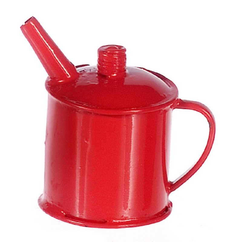 Dolls House Red Petrol Gas Can 1:12 Miniature Garage Shop Accessory