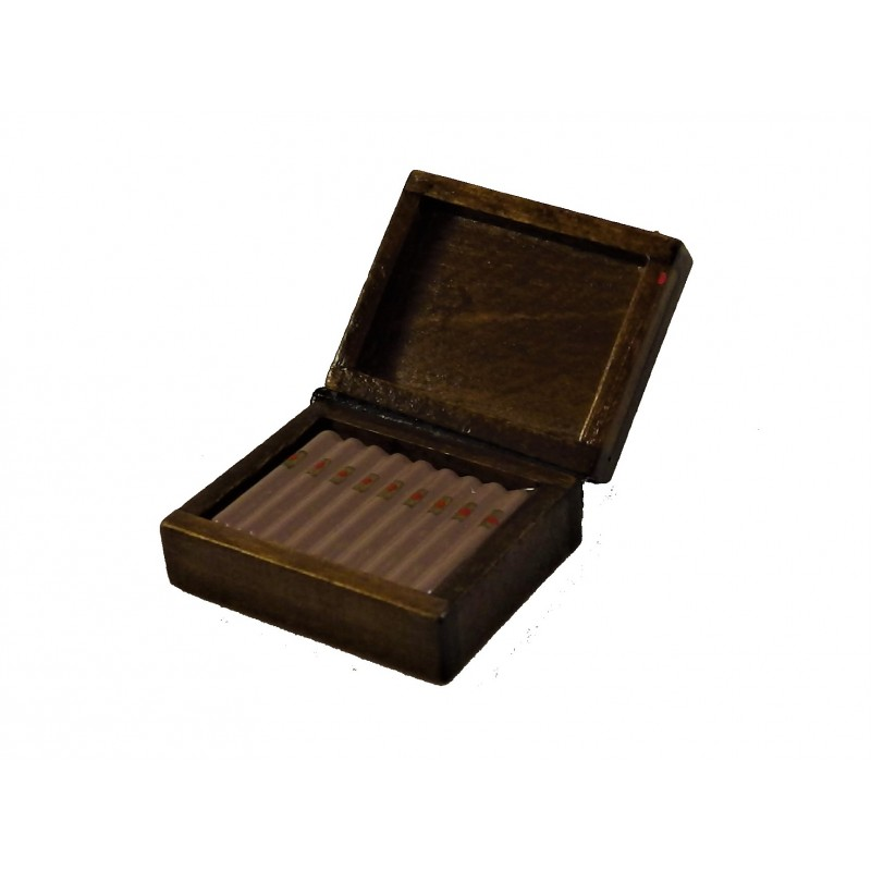 Dolls House Miniature Box of Cigars Pub Bar Gentleman's Accessory