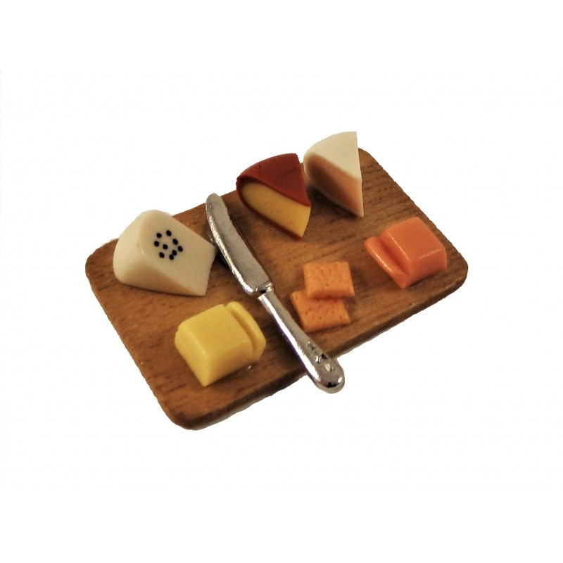 Dolls House Cheese Board Miniature Dinner Dining Room Accessory 1:12