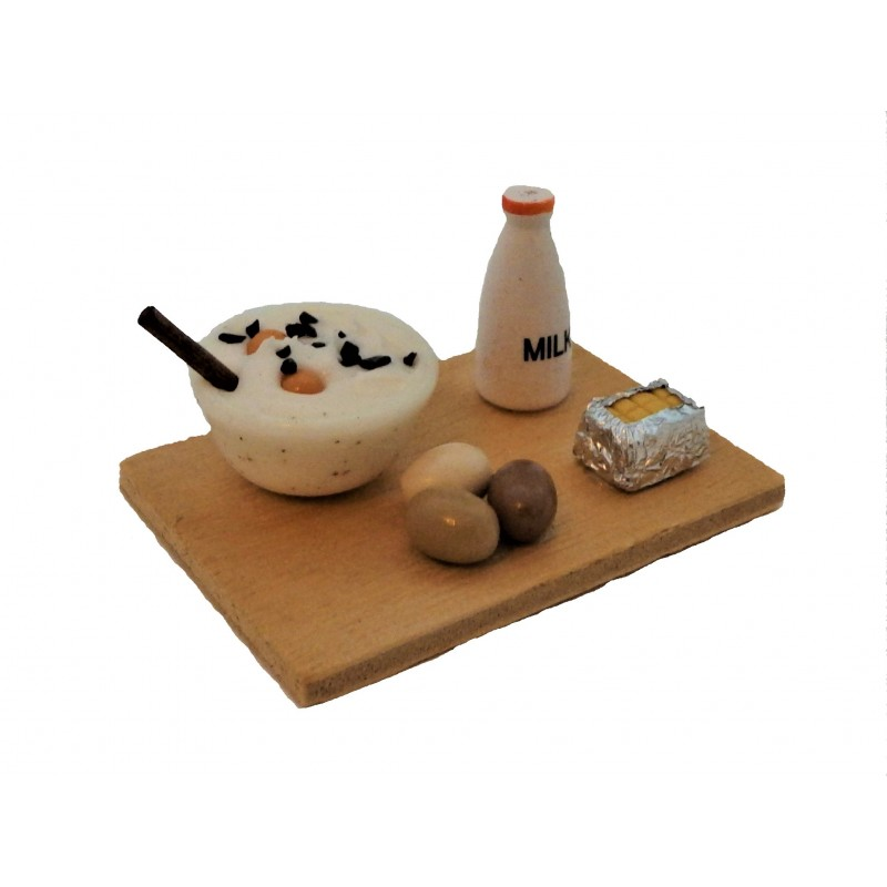 Dolls House Food Cake Baking on Board Miniature Kitchen Accessory