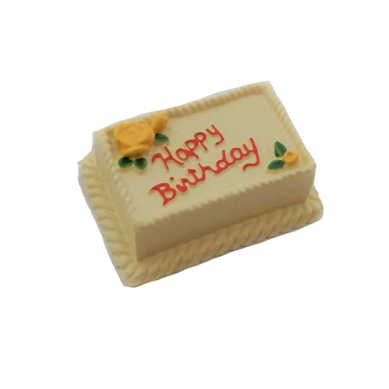 Dolls House Lemon Birthday Cake Celebration Party Shop Accessory
