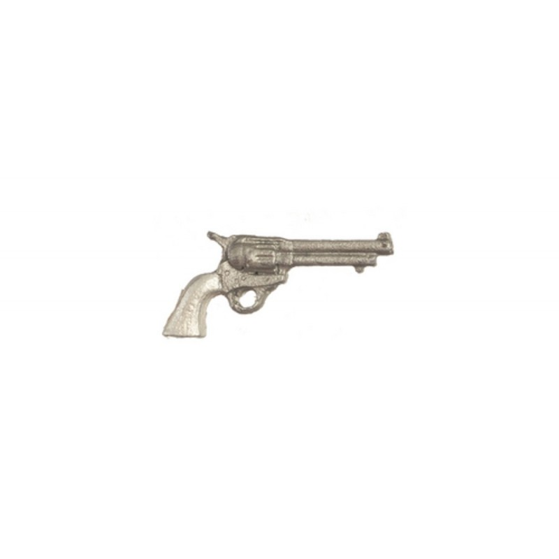 Dolls House Western 6 Gun Pistol Miniature 1:12 Ornament Accessory
