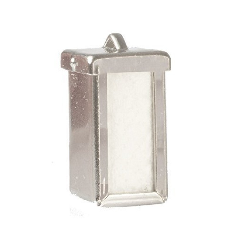 Dolls House Napkin Serviette Dispenser Silver Diner Cafe Accessory