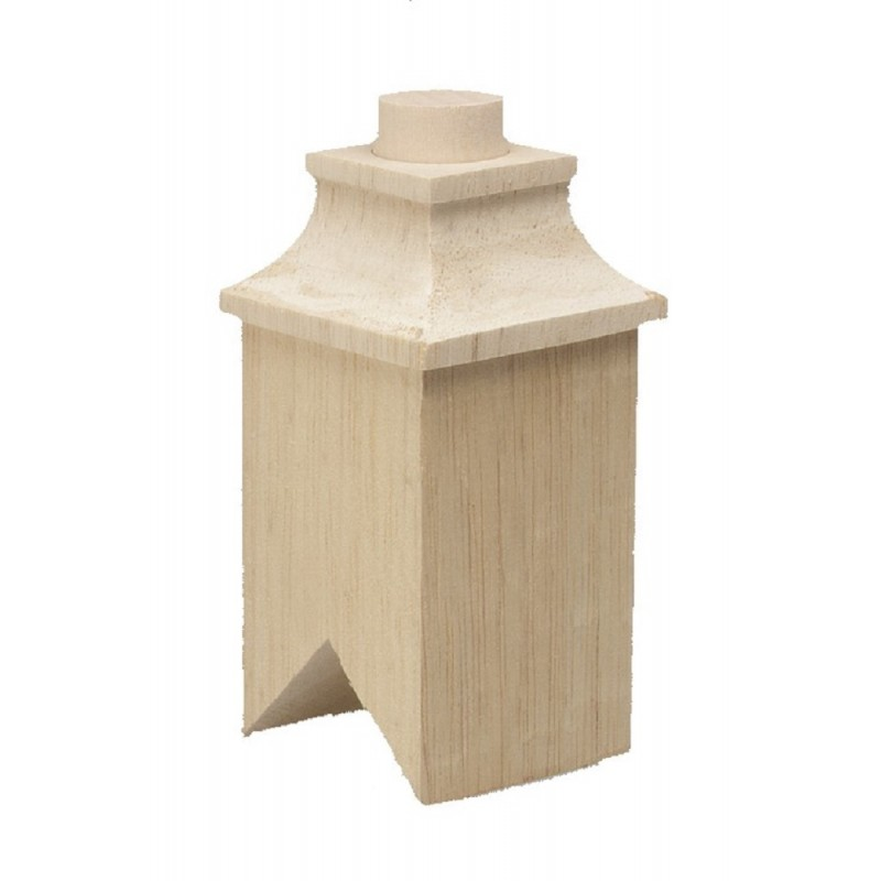 Dolls House Square Chimney Wooden DIY Builders