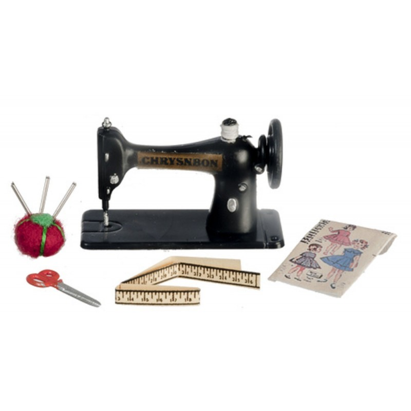 Dolls House Sewing Machine & Accessories Set Chrysnbon Miniature