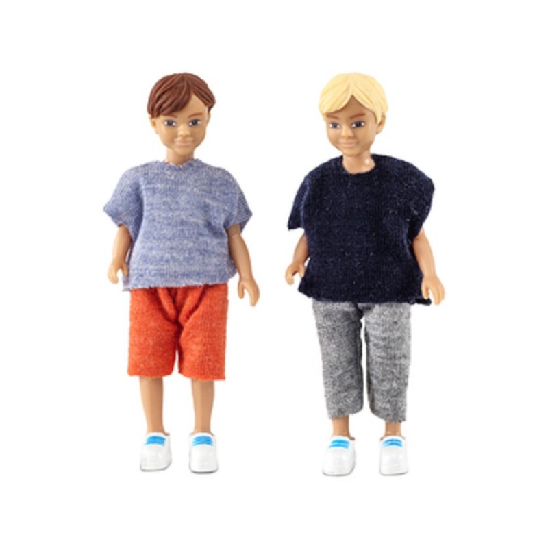 Dolls House Lundby Two Modern Boys, Friends or Brothers