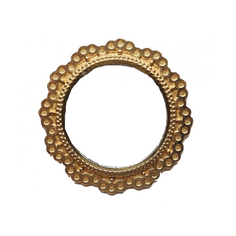 Dolls House Round Mirror in Gold Frame Miniature 1:12 Accessory