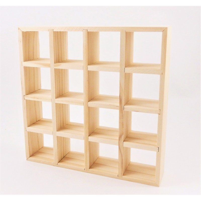 Dolls House 16 Cube Display Unit Modern Display Shelves Miniature